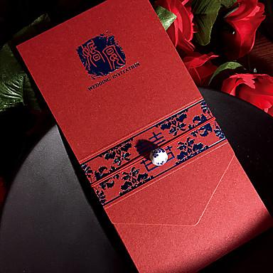 הזמנות ומעטפות הזמנות לחתונה-כרטיסי הזמנה כרטיסים למסיבת אירוסין סגנון אמנותי נייר פנינה