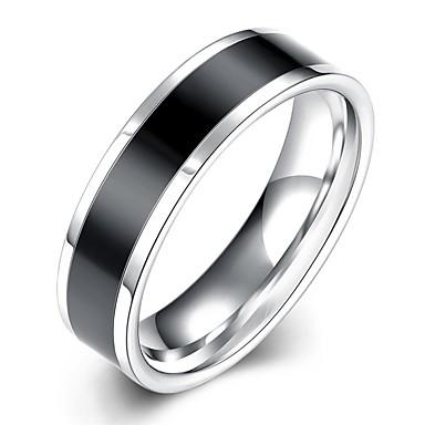 Herrn Bandring Statement-Ring Ring - versilbert Quaste, Böhmische, Punk 7 / 8 / 9 / 10 Weiß / Schwarz Für Hochzeit Party Alltag