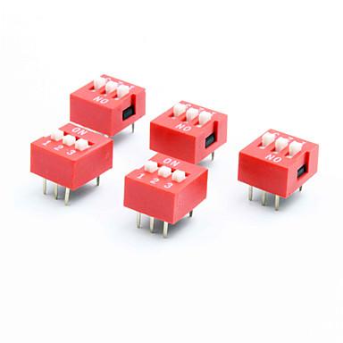 DIY 3-polig 2-Position 6-Pin-DIP-Schalter (5-Stück-Packung)