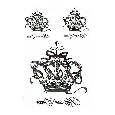 8pcs klassische totem Krone Blume Armmanschette wasserdicht temporäre Tätowierung für Frauen Mann Körperkunst Tattoo-Aufkleber Dekoration