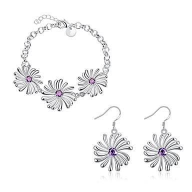Halskette / Ohrringe Künstliche Perle Silber Halsketten Ohrringe Für Hochzeit Party Alltag Normal 2 Stück Hochzeitsgeschenke