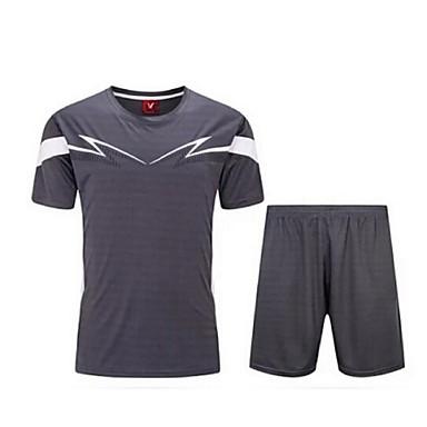Homens Futebol Shorts shirt + Conjuntos de Roupas/Ternos Respirável Secagem Rápida Primavera Verão Outono Inverno Clássico Terylene
