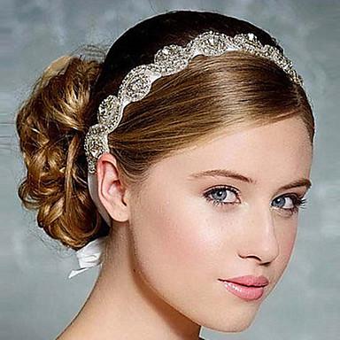Vollkristallsatinband Stirnband für Hochzeit Partei Damehaarschmuck schnüren sich oben