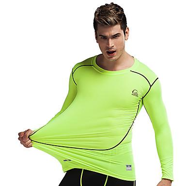 Homens Camiseta de Corrida Secagem Rápida Respirável Compressão Camiseta Meia-calça Blusas Calças para Exercício e Atividade Física