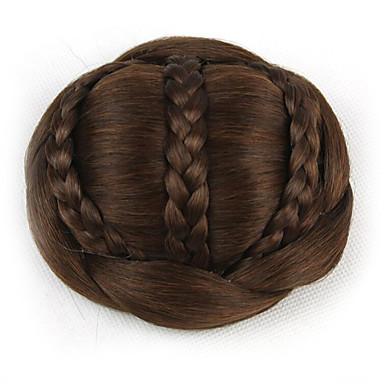 Kastanienbraun Klassisch Schick & Modern Haarknoten Updo Gute Qualität Chignons/Haarknoten Synthetische Haare Haarstück Haar-Verlängerung
