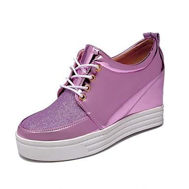 Teletalpú / Magassarkú / Kényelmes-Parafa-Női cipő-Magassarkú-Szabadidős / Alkalmi / Sportos-Szintetikus-Rózsaszín / Ezüst / Arany