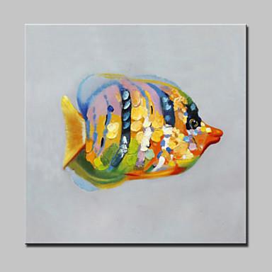 nagy olajfestmény modern absztrakt állatot színes hal képet, kézzel festett vászon feszített keret