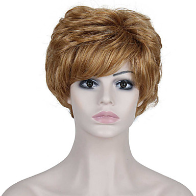 Cabelo Sintético perucas Ondulado Sem Touca Peruca de carnaval Peruca de Halloween Loiro