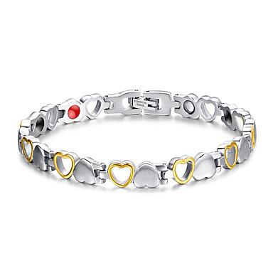 Femme Chaînes & Bracelets Thérapie Magnétique Mode Acier au titane Bijoux Pour Quotidien Décontracté Regalos de Navidad