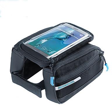ROSWHEEL Fahrradrahmentasche Handy-Tasche 139.7 Zoll Feuchtigkeitsundurchlässig Wasserdichter Reißverschluß tragbar Stoßfest Touchscreen