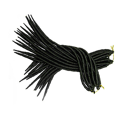 #2 La Havane / Crochet dreadlocks Extensions de cheveux 14 18 inch Kanekalon 24 Brin 115-125 gramme Braids Hair