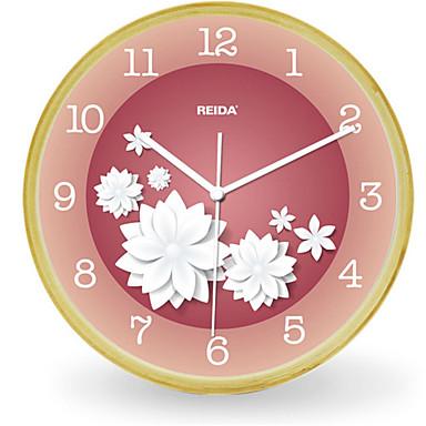 Moderno/Contemporâneo Outros Relógio de parede,Redonda Madeira Relógio
