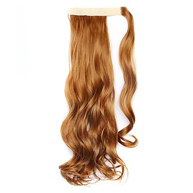 perruque brune 45cm synthétique fil à haute température prêle bouclés 27s couleur