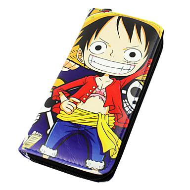 ארנקים קיבל השראה מ One Piece Monkey D. Luffy אנימה אביזרי קוספליי עוד אביזרים עור PU יוניסקס