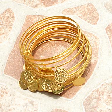 Accessoires de Danse Bijoux Femme Utilisation Métal Jeton doré Bracelets