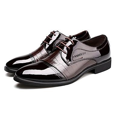 Муж. обувь Лакированная кожа Весна / Осень Удобная обувь / Формальная обувь Туфли на шнуровке Черный / Коричневый / Для вечеринки / ужина