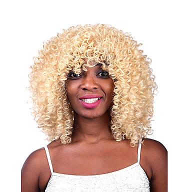 Synthetische Haare Perücken Locken Kappenlos Lang