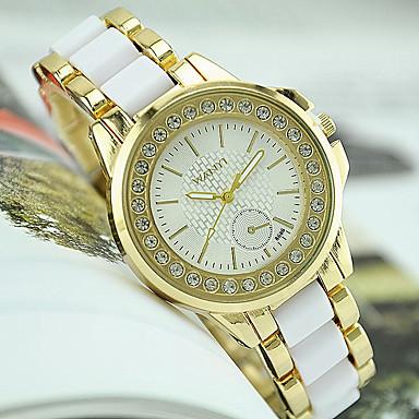 Damen Armbanduhr Imitation Diamant Edelstahl Band Charme / Modisch / Simulierte Diamant-Uhr Schwarz / Weiß / Ein Jahr / Tianqiu 377