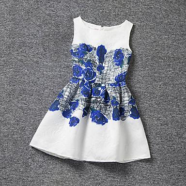 Kinder Mädchen Blumig Druck Ärmellos Kleid