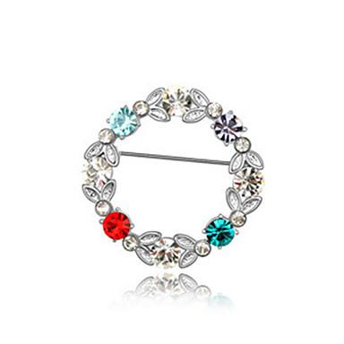 de alta qualidade broche de cristal círculo para a senhora festa de casamento