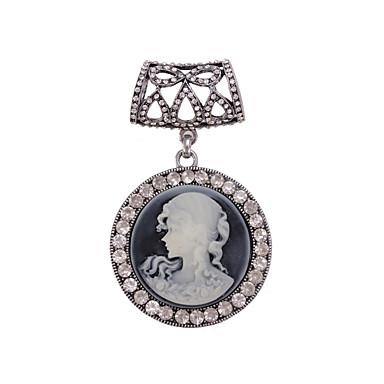 prata antigo anel de jesus fivela cachecol broche jóias acessórios cachecol para a senhora