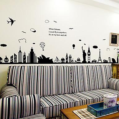 Tiere / Archtektur / Cartoon Design / Worte & Zitate / Stillleben / Mode / Landschaft / Retro / Freizeit Wand-StickerFlugzeug-Wand