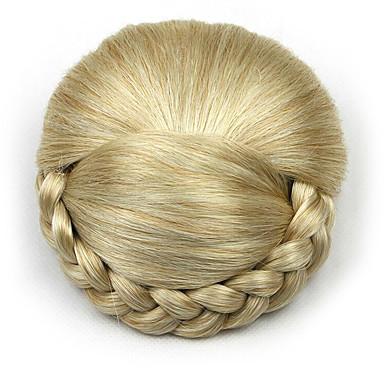 verworrene lockige Gold Art und Weise menschliches Haar capless Perücken Chignons 1003