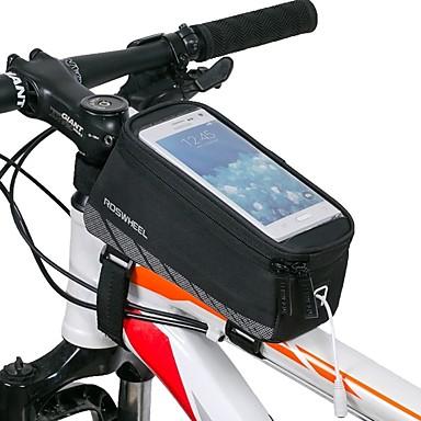 ROSWHEEL Handy-Tasche / Fahrradrahmentasche 5.5 Zoll Touchscreen, Wasserdicht Radsport für iPhone 8 Plus / 7 Plus / 6S Plus / 6 Plus / iPhone X Schwarz / Wasserdichter Verschluß
