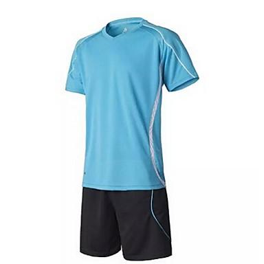 לגברים כדורגל מדים בסטים נושם ייבוש מהיר אביב קיץ סתיו חורף טרילן כושר גופני ספורט פנאי כדורגל ריצה כחול ורוד