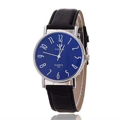 Masculino Relógio de Pulso Quartzo Relógio Casual Couro Banda Preta Marrom Preto Marron