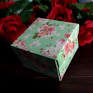 Créatif Cubique Papier durci Titulaire de Faveur avec Motif Boîtes Cadeaux
