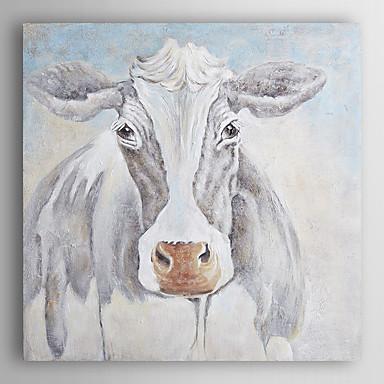 יד בעלי חי ציור צבוע שמן פרה מקסים עם arts® קיר מסגרת 7 נמתחה