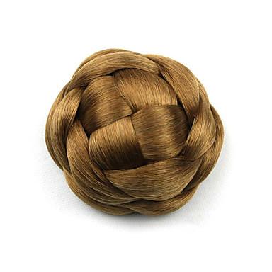 excêntricas encaracolados chignons perucas marrom europa noiva cabelo humano sem capa g660205 2005