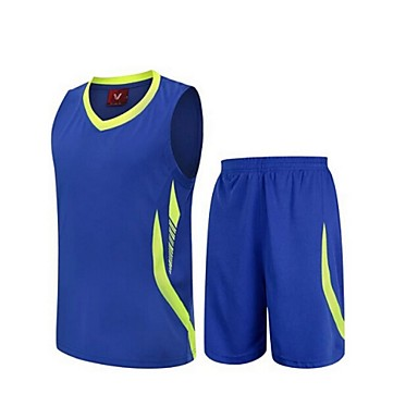 Herrn Ärmellos Freizeit Sport Badminton Basketball Laufen Kleidungs-Sets Baggy Shorts Rasche Trocknung Atmungsaktiv