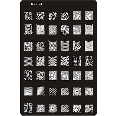 Nail Art Stamping Placa Stamper raspador 14.5*9.5*0.2cm