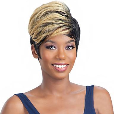 Cabelo Sintético perucas Ondulado Cabelo Ombre Sem Touca Curto