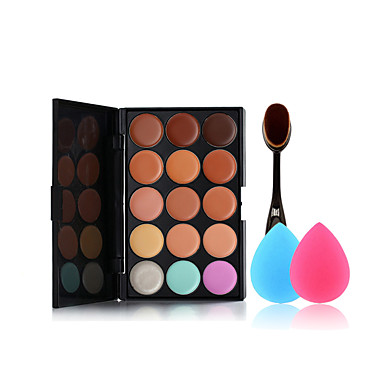 15 Foundation+Makeupbørster Makeupbørster Ansigt