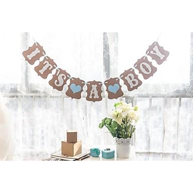 כרטיס מנייר קשה קישוטי חתונה-1Piece / סט יום הולדת מסיבת מתנות לתינוק נושאי גן נושא פרחוני נושא אגדות אביב קיץ סתיו חורף
