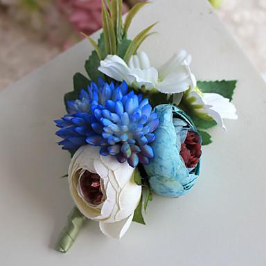 פרחי חתונה בצורה חופשיה ורדים פרחי דש חתונה חתונה/ אירוע פוליאסטר סאטן