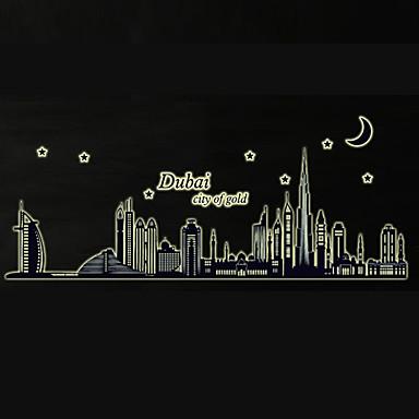 luminous dubai city building architecture luminous wall stickers