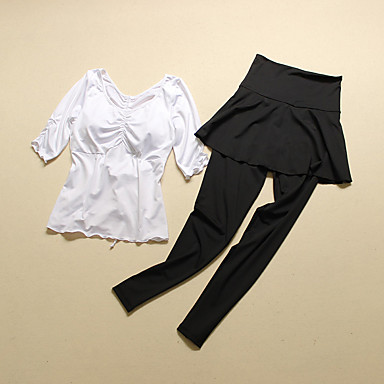 Yoga Kleidungs-Sets/Anzüge Atmungsaktiv / Rasche Trocknung / Videokompression Dehnbar Sportbekleidung Damen-Sport,Yoga / Fitness /