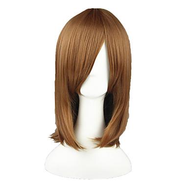 פאות סינתטיות ישר שיער סינטטי חום פאה 13  ס
