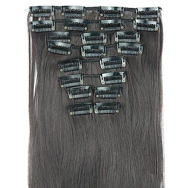 perruque cheveux raides extension de cheveux synthétiques 62cm haute température de longueur de fil noir