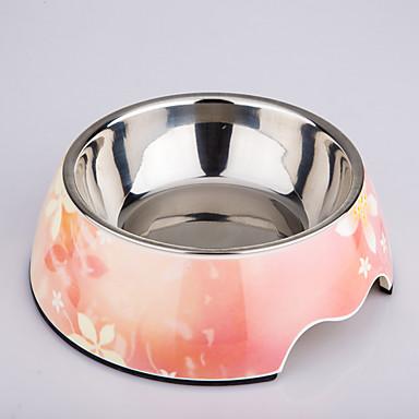 Schalen & Wasser Flaschen Edelstahl Reflektierend rosa