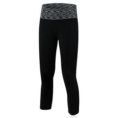 בגדי ריקוד נשים מכנסי ריצה ייבוש מהיר נושם 3/4 טייץ חותלות תחתיות יוגה כושר גופני ריצה שחור סגול אדום ירוק כחול M L XL
