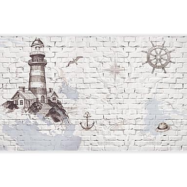 3d shinny Leder Effekt großes Wandtapete Ziegel und Bau Kunstwanddekorwandpapier