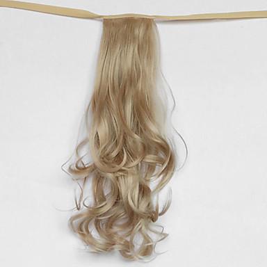 vague d'argent synthétique du type bandage queue de cheval perruque de cheveux gris (couleur 22)