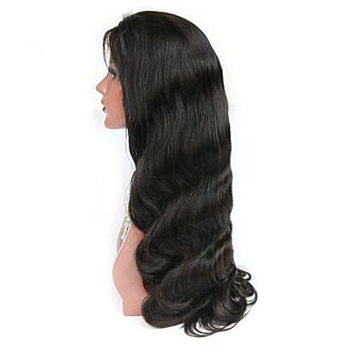 Ekte hår Blonde Forside Parykk Krop Bølge 130% tetthet 100 % håndknyttet Afroamerikansk parykk Naturlig hårlinje Medium Lang Dame