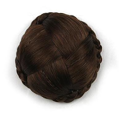 excêntricas marrons grandes tecer cabelo humano chignons capless perucas encaracoladas 2009
