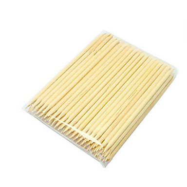 pinpai 50pcs ongle en bois strass strass produits à ongles bâton 11cm long bois